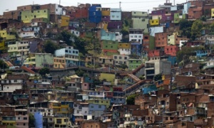 The Comuna 13 shantytown, one of the poorest areas of Medellín in Colombia. Photograph: Raul Arboleda/AFP/Getty Images