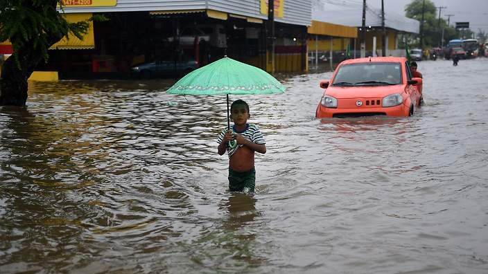 6000 people have been evacuated in parts of Brazil due to flooding (Getty/AFP)
