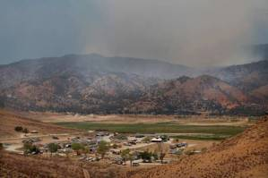 The fire camp for the Shirley Fire at Camp Nine, near Kernville, Calif., is well underway Sunday, June 15, 2014. (AP photo/The Bakersfield Californian, Casey Christie)