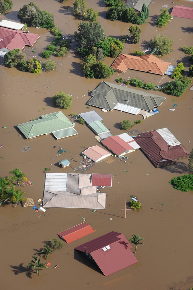It's all about seeing less of this kind of pictures:  Photo by Dave Hunt/AAP The town of Ipswich, west of Brisbane, on January 12, 2011
