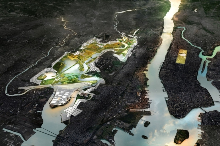 A group led by a team from MIT will reshape the New Jersey Meadowlands, boosting protection of surrounding urban areas with the Meadowband (an embankment made of various materials to suit local conditions) and man-made marshes.