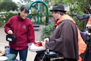 Two community members at Berkeley's annual city-wide disaster preparedness drill in April 2013. Photo: Emilie Raguso