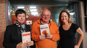 Dr Clare Wright, Frank Walker, Sophie Cunningham (John Standish - ABC Local)