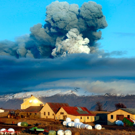 Recent volcanic activity reminds us of the 2010 disaster. The volcano in southern Iceland's Eyjafjallajokull glacier sends ash into the air just prior to sunset ON Friday, April 16, 2010. Thick drifts of volcanic ash blanketed parts of rural Iceland on Friday as a vast, invisible plume of grit drifted over Europe, emptying the skies of planes and sending hundreds of thousands in search of hotel rooms, train tickets or rental cars. (AP Photo/Brynjar Gauti) #