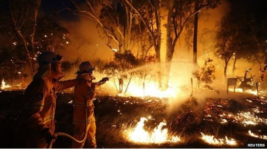 Hotter and drier weather brought about by climate change is fuelling bushfires in Australia