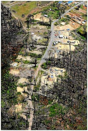 Kinglake West following the catastrophic Black Saturday fires. Photo: Craig Abraham