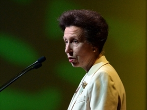Princess Anne has paid tribute to the Queensland spirit at an agricultural conference in the state.