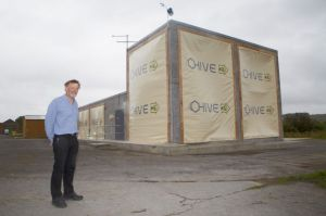 Michael Lawrence runs the new HIVE facility where researchers can test methods and products for building more resilient structures.