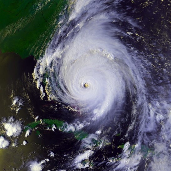 The 15 Costliest Hurricanes In History As Seen From Space: Number 15: Hurricane Floyd (Damage (billion USD): $6.9  Season: 1999  Category 4  Deaths: 56  Areas affected: The Bahamas Eastern United States Atlantic Canada)