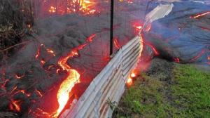 Hawaii volcano (U.S. Geological Survey) A lava flow from the Kilauea volcano approaches the village of Pahoa, Hawaii.