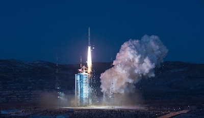 The Long March 2C rocket lifted off at 6:53 a.m. Beijing time on Monday. Credit: Xinhua