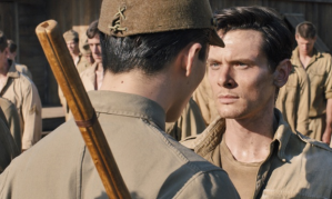A still from the film Unbroken starring Jack O'Connell as Louis Zamperini, who endured sadistic beatings and daily threats of death in Japanese POW camps. PR Photograph: PR