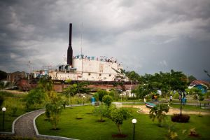 The tsunami that struck Banda Aceh, Indonesia, on December 26, 2004, washed a 2,600-ton ship about five miles (eight kilometers) inland into the city. The site is now a park and a memorial. Photograph by Lianne Milton, Panos