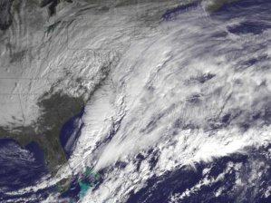 This week's snowstorm bore down on the eastern seaboard. (NOAA)