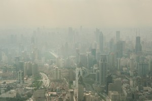 A heavily polluted Shanghai skyline. Cities will increasingly need to build their resilience to challenges such as increasing population pressure, climate change, and globalisation. Image: Hung Chung Chih / Shutterstock.com