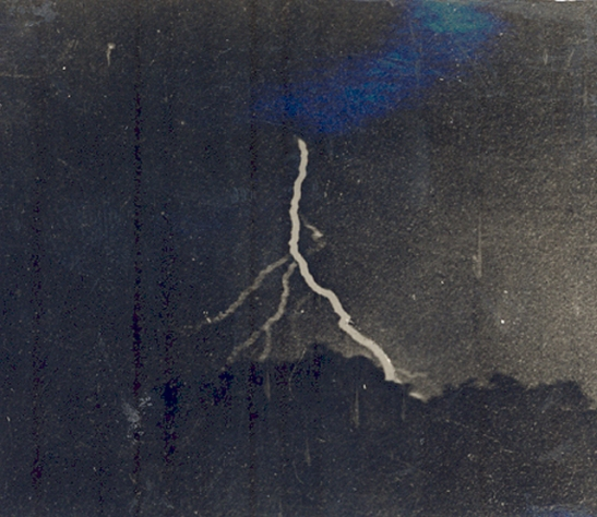 The First Lightning Photograph Lightning can be an exciting subject to capture and the first photographer to grab a snapshot did so in 1882. Photographer, William Jennings, used his findings to showcase that lightning was much more complicated than originally thought – notice how the lightning branches out in the above piece.