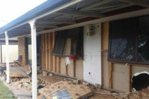 Deception Bay was hit hard when heavy falls battered the state's south-east. ABC News: Kristina Harazim