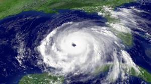 A satellite image of Hurricane Rita on Sept. 22, 2005, heading toward Texas from west of Florida in the Gulf of Mexico.  (NOAA)