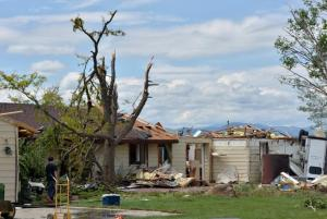 The home at 15500 N. 95th St. north of Longmont was severely damaged in the June 4 tornado. No injuries were reported, and the occupants survived the direct hit. (David R. Jennings / Staff Photographer)