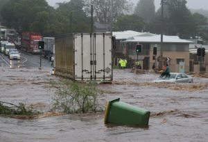 Flash flood in Toowoomba