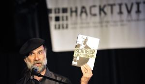 US computer security specialist Bruce Schneier gives a lecture during the largest computer hackers' conference in eastern Europe, the 'Hacktivity' in Budapest on September 18, 2010. Hacktivity 2010, the largest computer hackers' conference in eastern Europe, kicked off on September 18, with some 1,000 participants expected to attend the two-day event, according to organisers. The conference was to bring together officials and computer experts from Hungary and abroad in an informal setting, combining lectures and discussions on serious issues such as Internet security, with lighter fare and games. Bruce Scheier, a world-renowned cyber security expert, opened the congress with a keynote speech.  AFP PHOTO / ATTILA KISBENEDEK (Photo credit should read ATTILA KISBENEDEK/AFP/Getty Images)