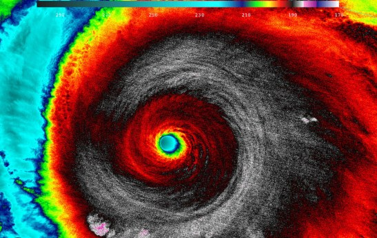 When NASA-NOAA's Suomi NPP satellite passed over Patricia on Oct. 23 at 5:20 a.m. EDT, the VIIRS instrument that flies aboard Suomi NPP looked at the storm in infrared light.