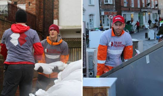 Team Rubicon volunteers help with the clean up in the wake of December's devastating floods
