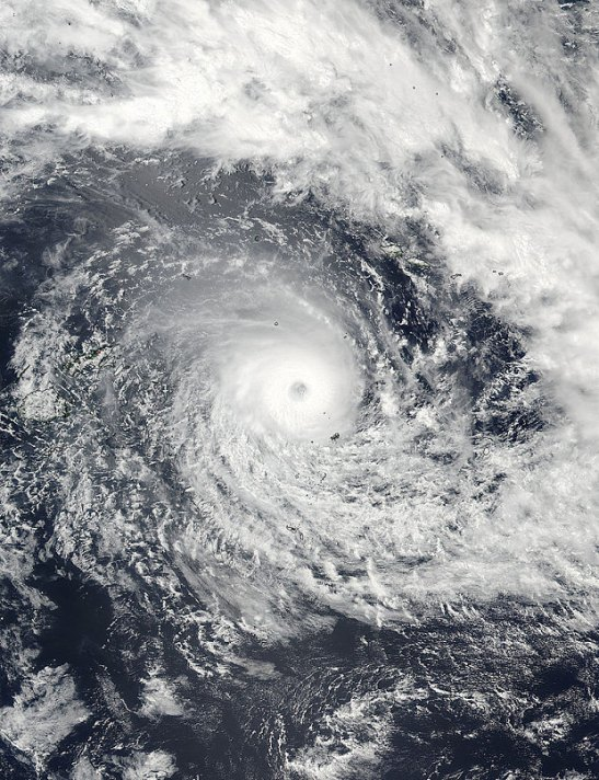 The cyclone Winston passed through Tonga earlier this week and destroyed about ten houses but strengthened as it approached Fiji.