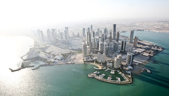 The Safest in the world.  Qatar has only Qatar – 0.1 percent chance of natural disaster! Burgeoning: Skyscrapers in Qatar's impressive capital, Doha