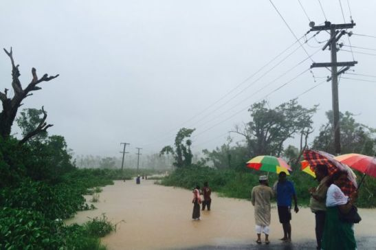 Photo: Flooded Maruru bridge in the town of Ba, Fiji, on April 4, 2016. (Naziah Ali) \ Source: http://www.abc.net.au/news/2016-04-04/heavy-rain-causes-widespread-flooding-in-fiji/7298610