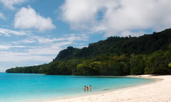 Vanuatu in the south Pacific sits on the Ring of Fire. Photograph: Nikki Marshall for the Guardian