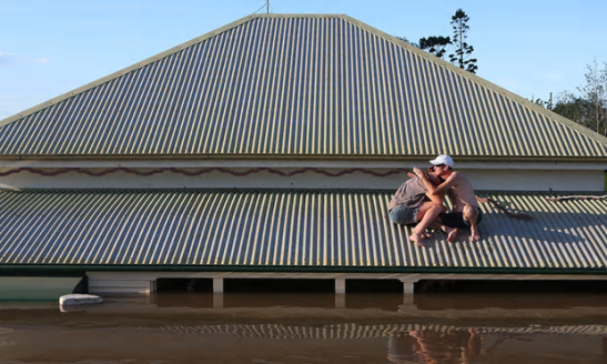 Houses in some areas of Australia are likely to become uninsurable, dilapidated and uninhabitable due to climate change, says the Climate Institute. Photograph: Chris Hyde/Getty Images