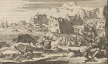 A depiction of the earthquake that destroyed much of Port Royal in 1692, by Jan Luyken and Pieter van der Aa. Illustration: Alamy