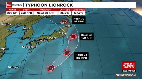 At least nine dead as Typhoon Lionrock pummels Japan