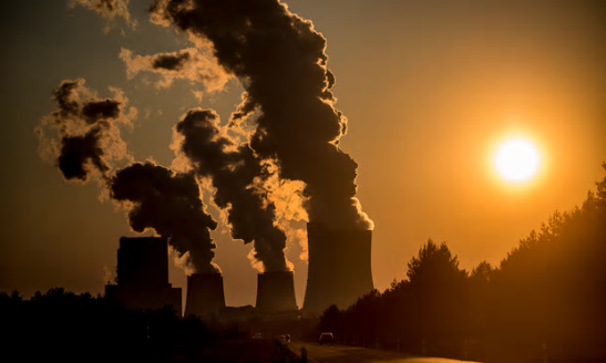 A coal-fired power station. 'Massive CO2 extraction' costing trillions is needed in order to avoid runaway temperature rises, says a new paper. Photograph: Florian Gaertner/Photothek via Getty Images