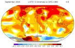 """Last month """"was the warmest September in 136 years of modern record-keeping,"""" reports NASA's Goddard Institute for Space Studies (GISS)"""