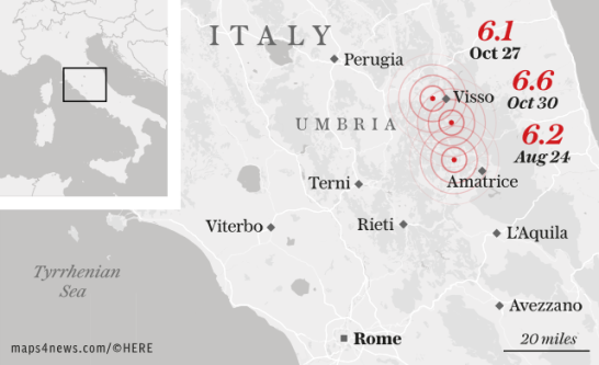Why earthquakes keep battering central Italy and how a devastating 'domino effect' could strike