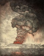 An 1888 lithograph of the 1883 eruption of Krakatoa from The eruption of Krakatoa, and subsequent phenomena. Report of the Krakatoa Committee of the Royal Society (London, Trubner & Co., 1888)